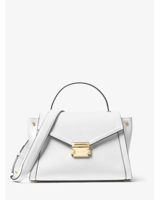 18e6bdbbf419 Michael Kors - White Whitney Medium Leather Satchel - Lyst ...
