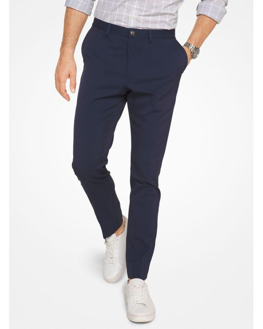 Michael Kors - Blue Slim-fit Trousers for Men - Lyst