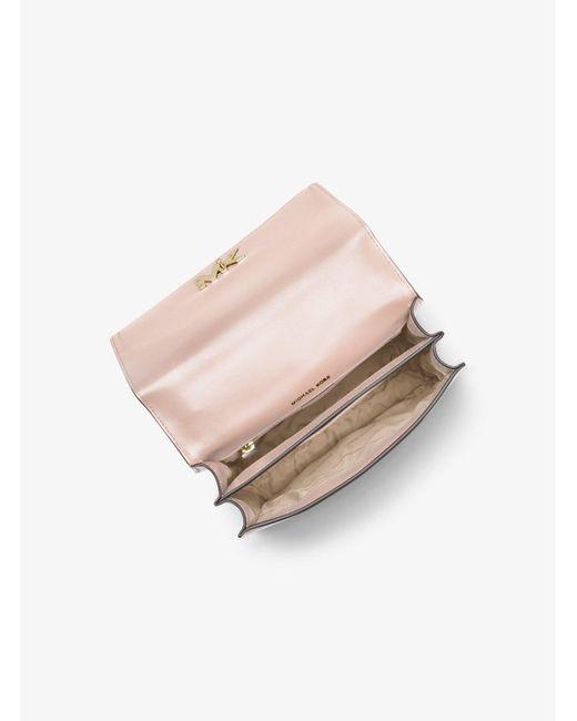 8fc1c79c3409 ... MICHAEL Michael Kors - Pink Mott Leather Crossbody Bag - Lyst ...