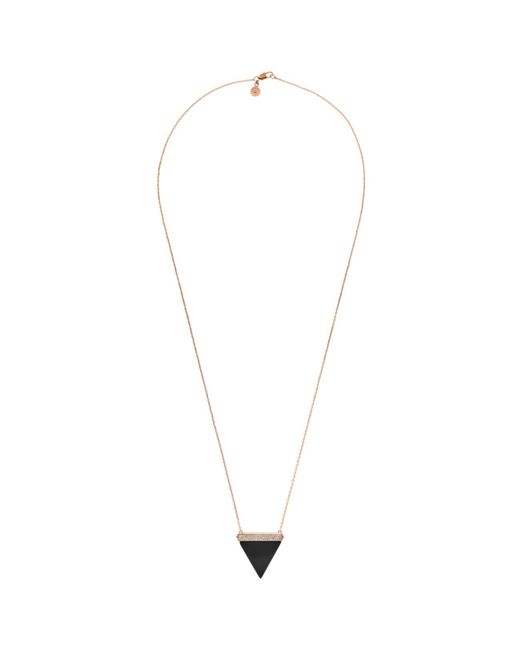 Michael Kors - Metallic Triangle Pendant Necklace - Lyst