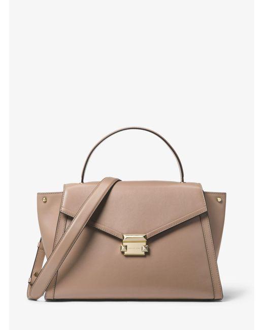 9b99d9dc9f9698 MICHAEL Michael Kors - Brown Whitney Large Top-handle Satchel (truffle)  Satchel Handbags ...