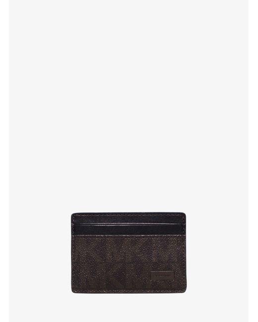 Michael Kors - Brown Jet Set Logo Money-clip Card Case for Men - Lyst