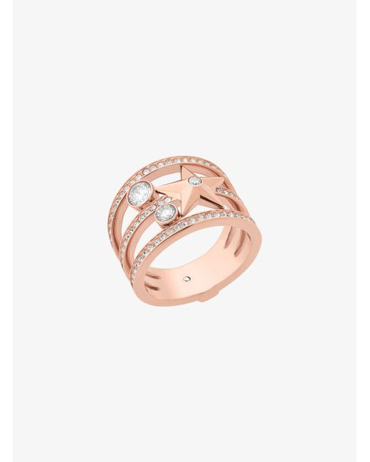 Michael Kors | Pink Rose Gold-tone Celestial Ring | Lyst