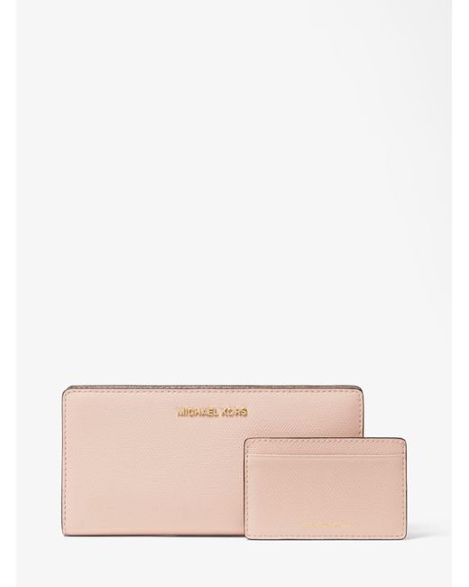 Michael Kors - Multicolor Saffiano Leather Slim Wallet - Lyst
