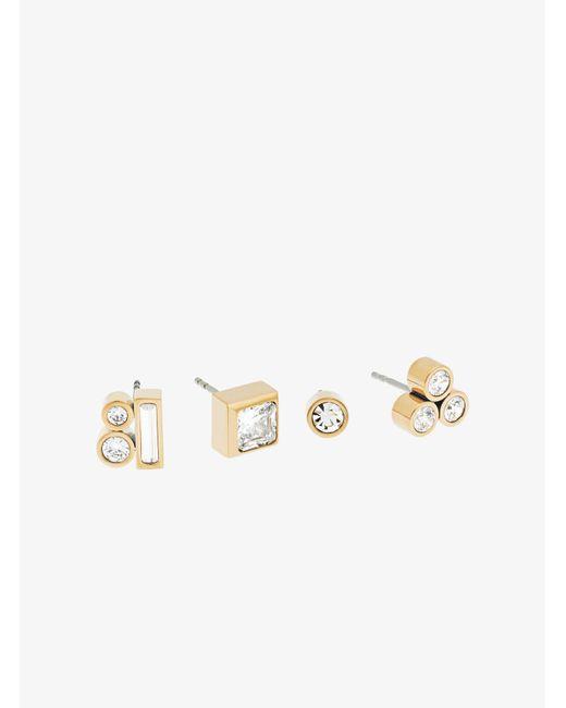 Michael Kors - Metallic Gold-tone Mix-and-match Stud Earrings - Lyst