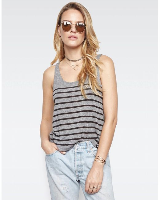 Michael Lauren - Gray Brock Classic Tank W/ Mini Stripes - Lyst