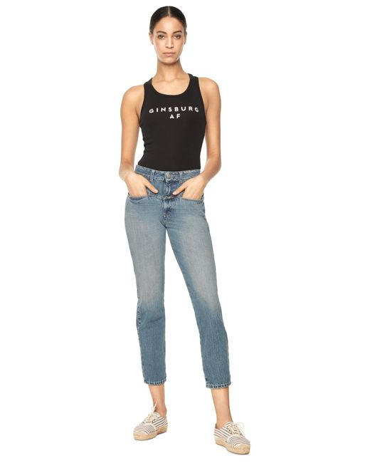MILLY | Blue High Waisted Pedal Pusher | Lyst