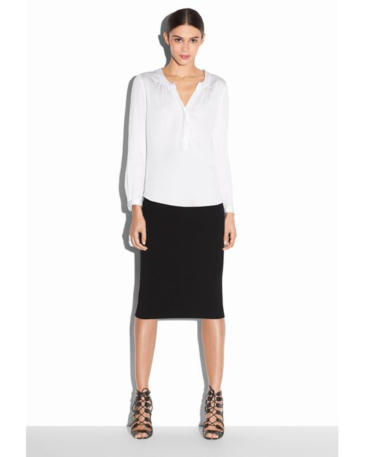 MILLY | White Tessa Blouse | Lyst