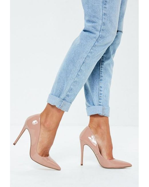 4be206b2ee1 Women's Blue Nude Patent Court Shoes