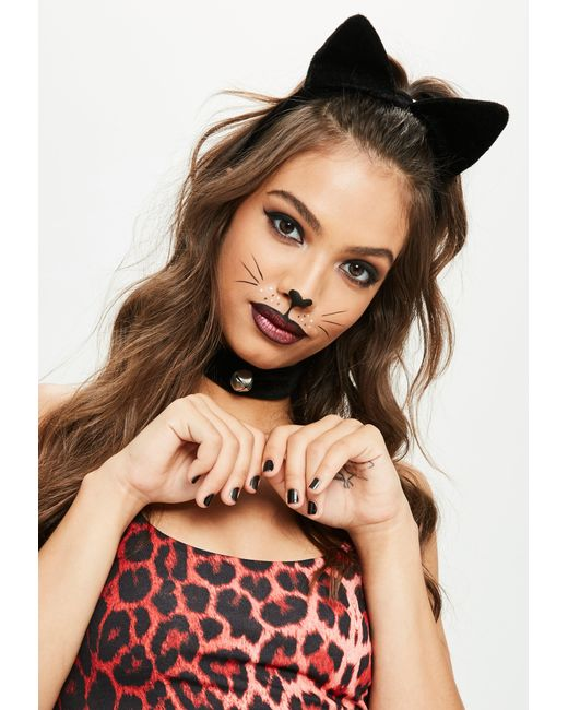 Missguided | Halloween Black Headband And Choker Set | Lyst