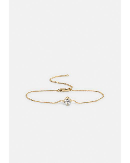 Missguided - Metallic Gold Plated Diamante Stud Bracelet - Lyst
