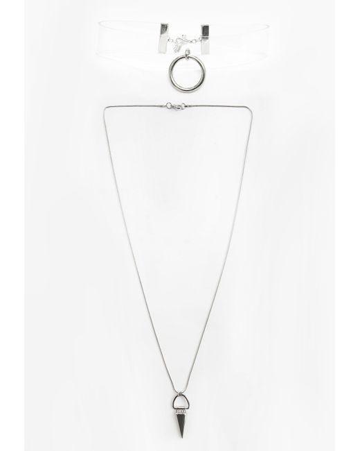 Missguided | Multicolor Perspex Spike Choker | Lyst