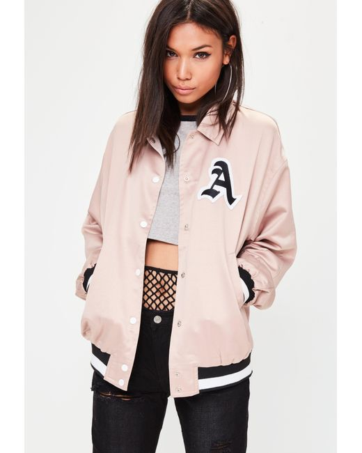 Missguided | Natural Nude Brooklyn Oversized Coach Jacket | Lyst