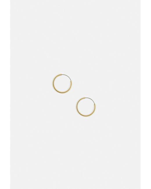 Missguided - Metallic Gold Mini Hoop Earrings - Lyst