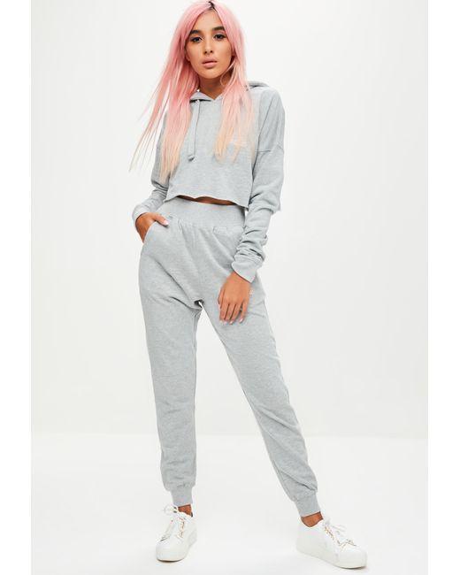 Missguided - Gray Petite Barbie X Grey Plain Joggers - Lyst
