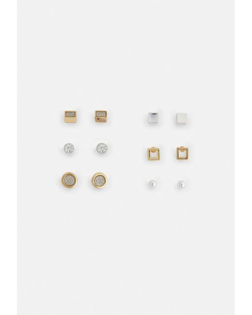 Missguided - Metallic Gold Glitter Stud Multi-pack Earrings - Lyst