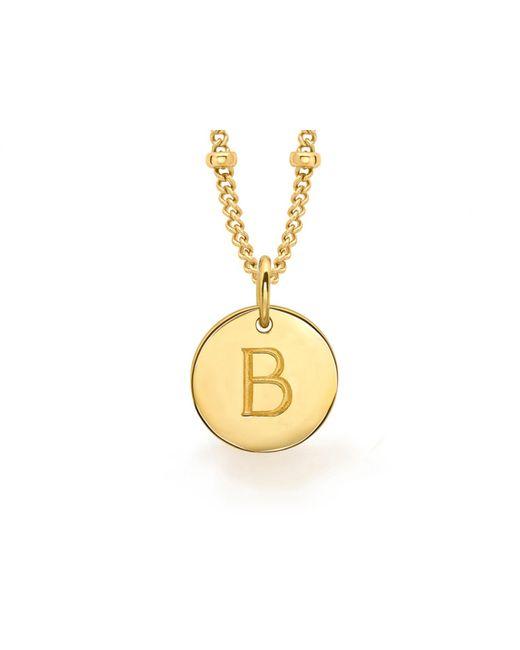Missoma - Metallic Gold B Initial Necklace - Lyst