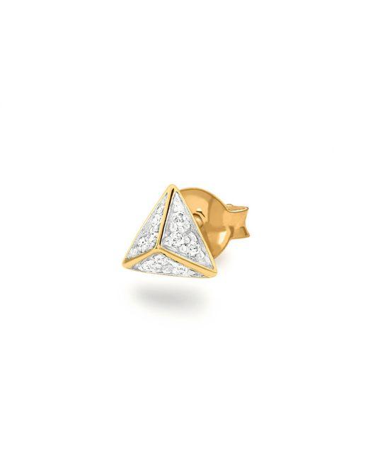 Missoma - Metallic Gold Single Pave Pyramid Stud - Lyst