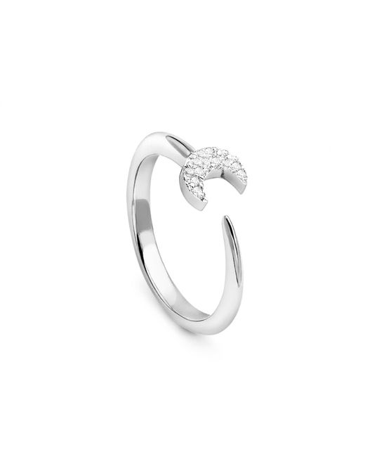 Missoma - Metallic Silver Eclipse Ring - Lyst
