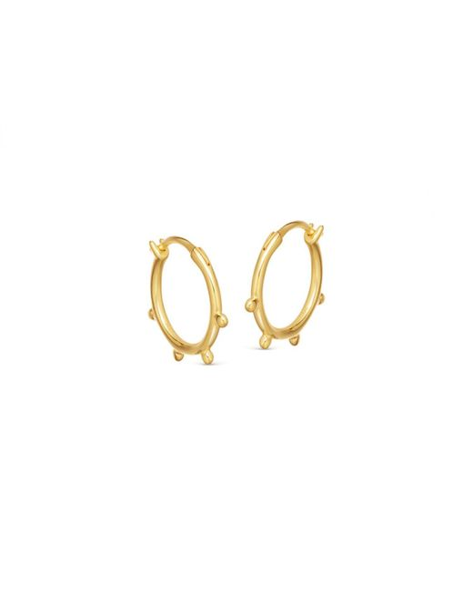 Missoma - Metallic Lucy Williams X Tiny Orb Hinged Hoops - Lyst