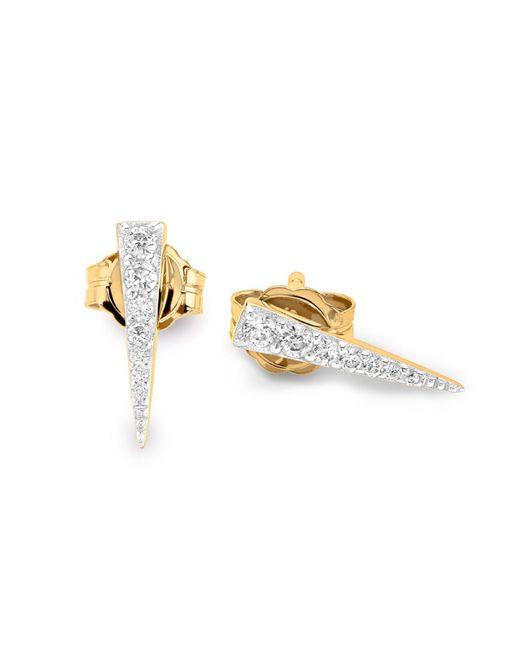 Missoma - Metallic Gold Long Pave Dagger Studs - Lyst