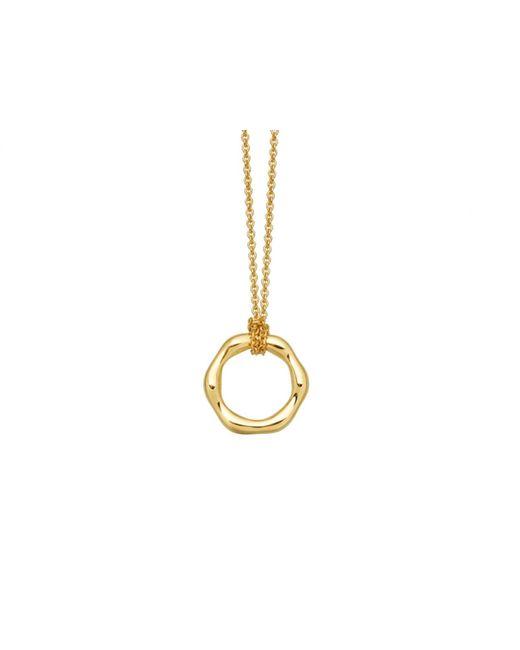 Missoma | Metallic Gold Mini Molten Necklace On Plain Chain | Lyst