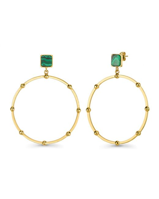 Missoma - Metallic Lucy Williams X Malachite Chandelier Hoops - Lyst