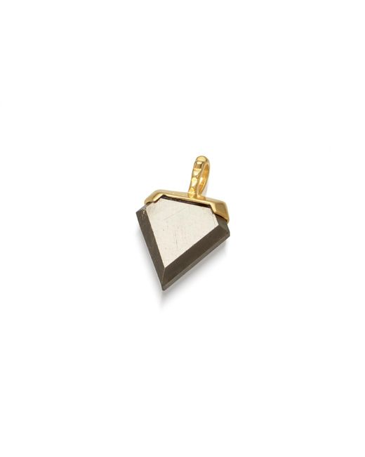 Missoma - Metallic Pyrite Mini Shield Pendant - Lyst