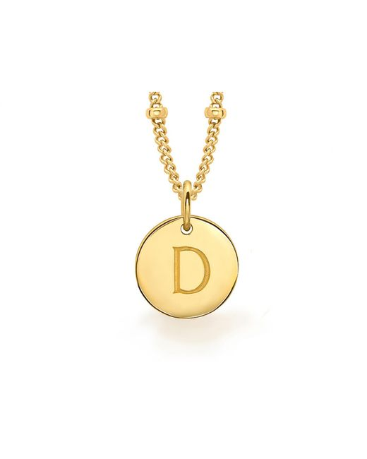 Missoma - Metallic Gold D Initial Necklace - Lyst