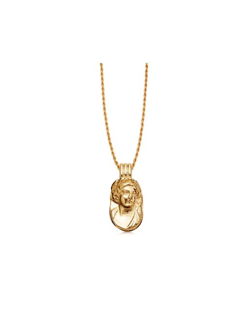 Missoma Metallic Lucy Williams Gold Large Cameo Necklace