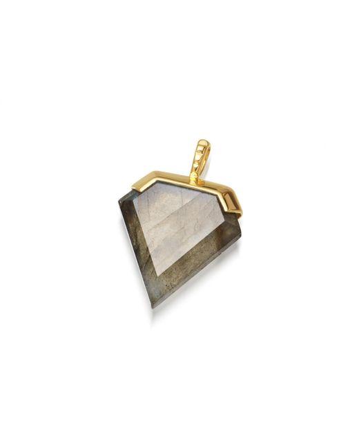 Missoma - Metallic Labradorite Shield Pendant - Lyst