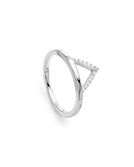 Missoma - Metallic Silver Open Arrow Ring - Lyst