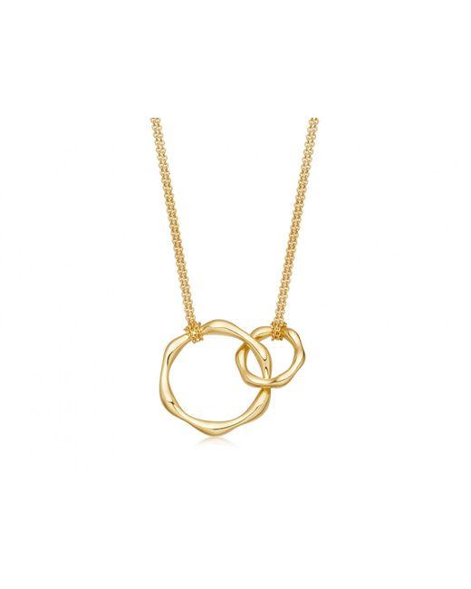 Missoma - Metallic Double Molten Necklace On Plain Chain - Lyst
