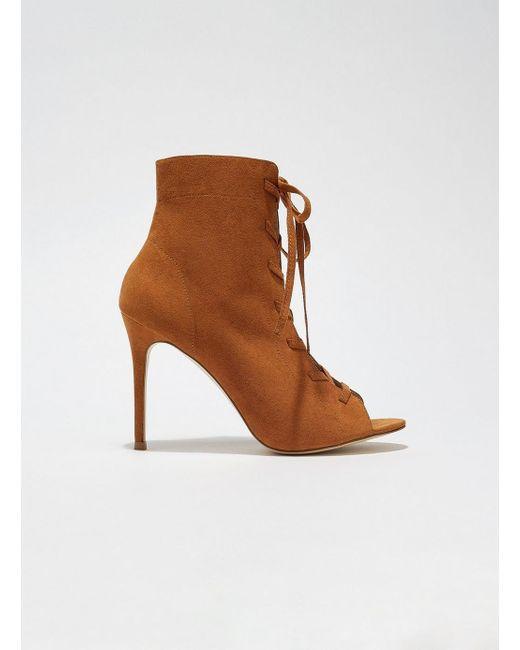 Miss Selfridge - Brown Hazel Lace Up Boots - Lyst