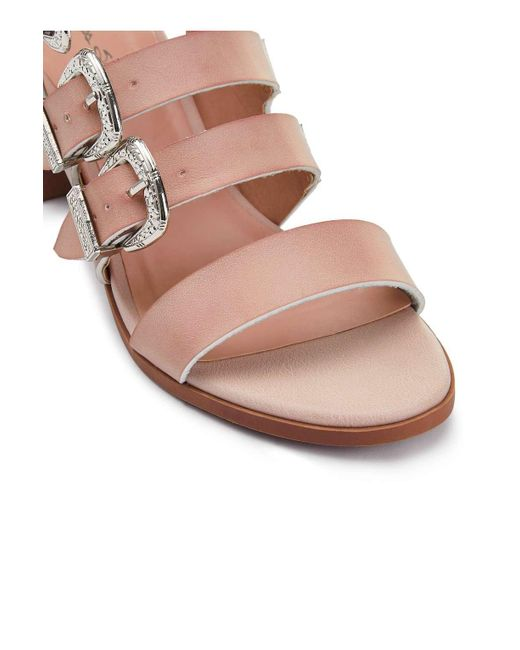 b636a7affc8f7e ... Miss Selfridge - Multicolor Cadee Western Buckle Sandals - Lyst