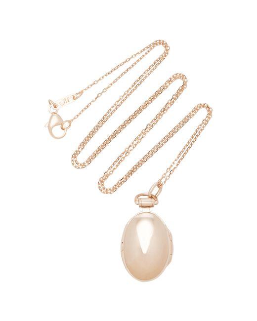 Monica Rich Kosann - Pink Anna 18k Rose Gold Locket Necklace - Lyst