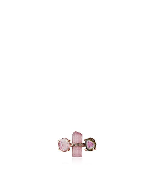 Jacquie Aiche   Pink Tourmaline Stud Single Earring   Lyst