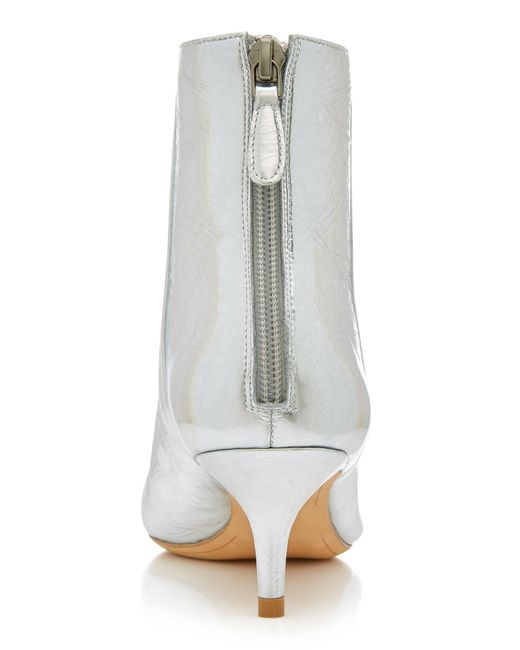 Lyst Birman Alexandre Metallic Leather Boots Ankle In Kittie 0zzwqxdU