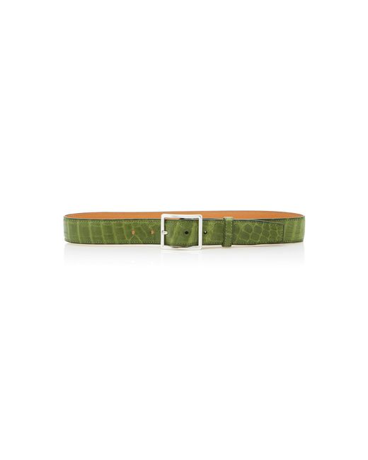 Maison Vaincourt - Green M'o Exclusive Crocodile Belt - Lyst