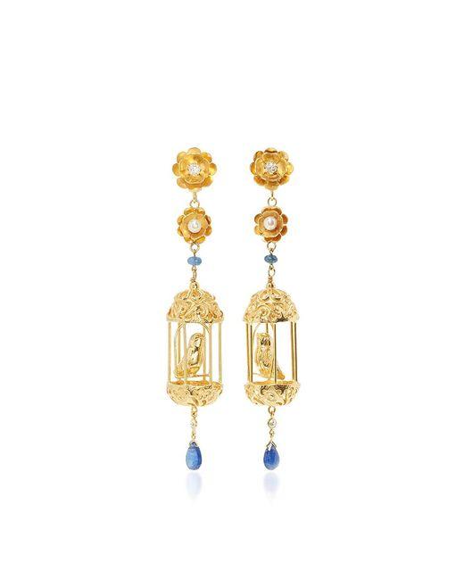 Of Rare Origin - Metallic M'o Exclusive Gold Aviary Classic Earrings - Lyst