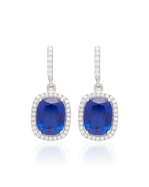 Anabela Chan - Blue Comet 18k White Gold And Sapphire Drop Earrings - Lyst