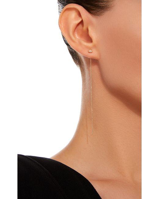 Shahla karimi Trillion 18k Gold Diamond Threader Earrings in