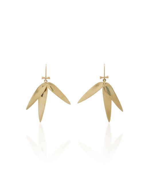 Annette Ferdinandsen - Metallic Bamboo 14k Gold Earrings - Lyst