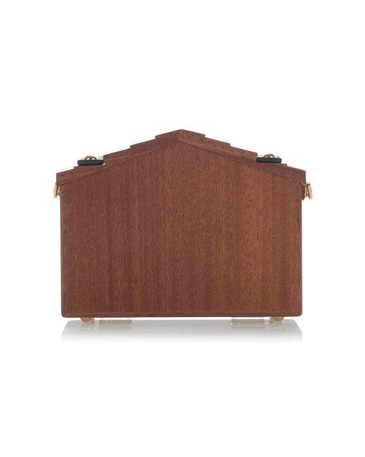 fe47550ac440 ... Lyst Dolce   Gabbana - Brown Embellished Wood Shoulder Bag ...