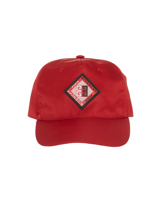 Lyst - Givenchy Red Logo Cap in Red for Men 2f31746785f8