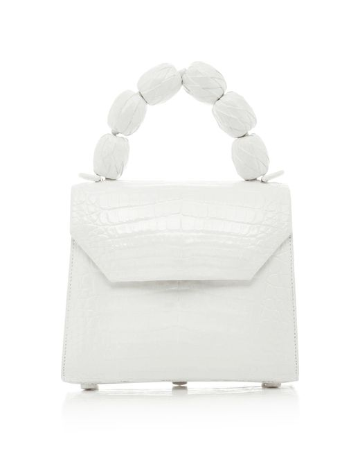 Nancy Gonzalez - White M'o Exclusive Lilly Small Fiesta Handle Crocodile Bag - Lyst