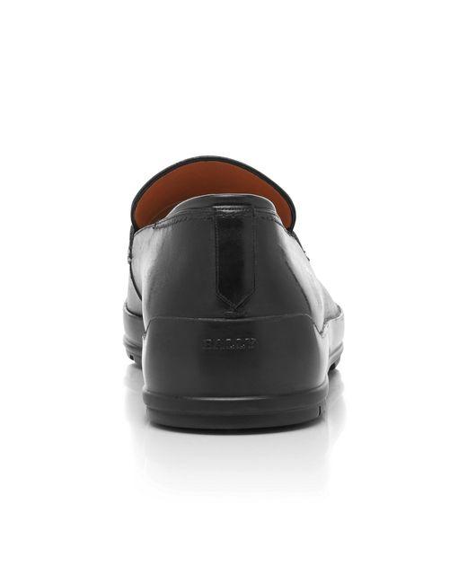 64741c321d5 ... Bally - Black Relon Calfskin Penny Loafers for Men - Lyst ...