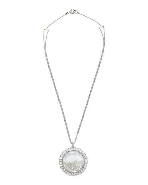 Renee Lewis   18k White Gold, Platinum, And White Diamond Shake Necklace   Lyst