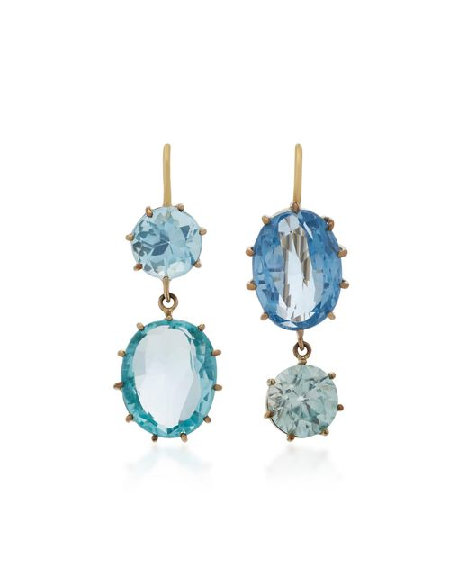 Renee Lewis | Blue 18k White Gold Spinel And Topaz Earrings | Lyst