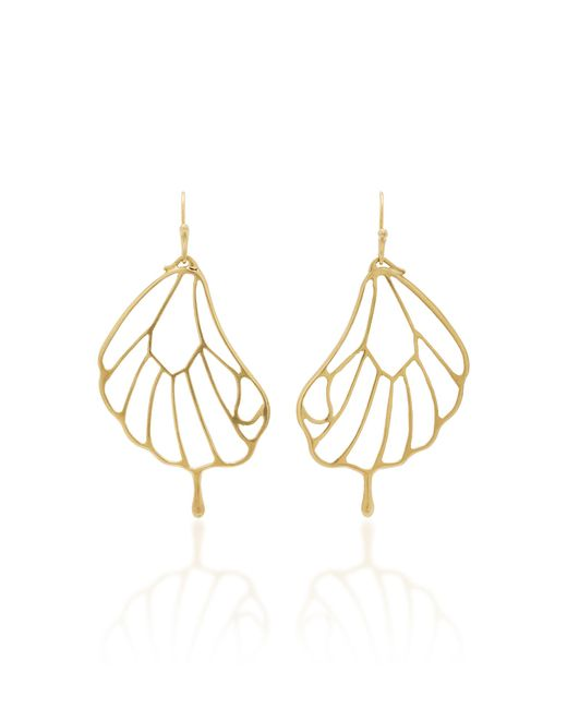 Annette Ferdinandsen - Metallic 18k Gold Pampion Wing Earrings - Lyst